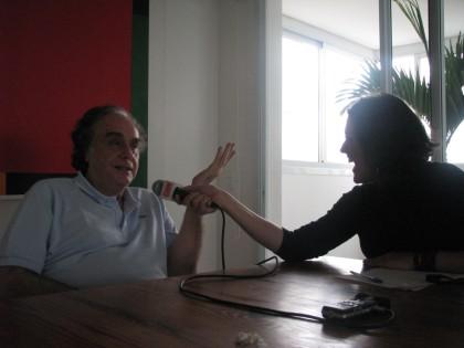 Arnaldo Jabor em seu apartamento em São Paulo