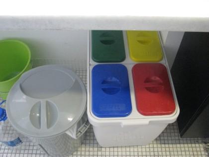 cesto de lixo sustentável, para separação dentro de casa.